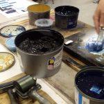 4. Farben mischen in der Druckwerkstatt